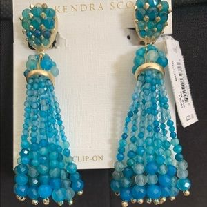 NWT Kendra Scott Cecily Clip-On Earrings